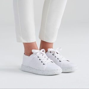 Eileen Fisher Clifton Knit Laced Sneakers in White